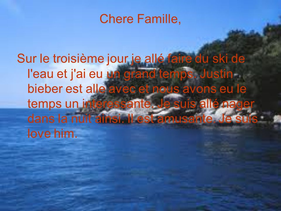 Chere Famille,