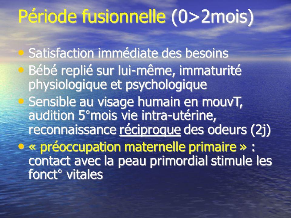 Période fusionnelle (0>2mois)