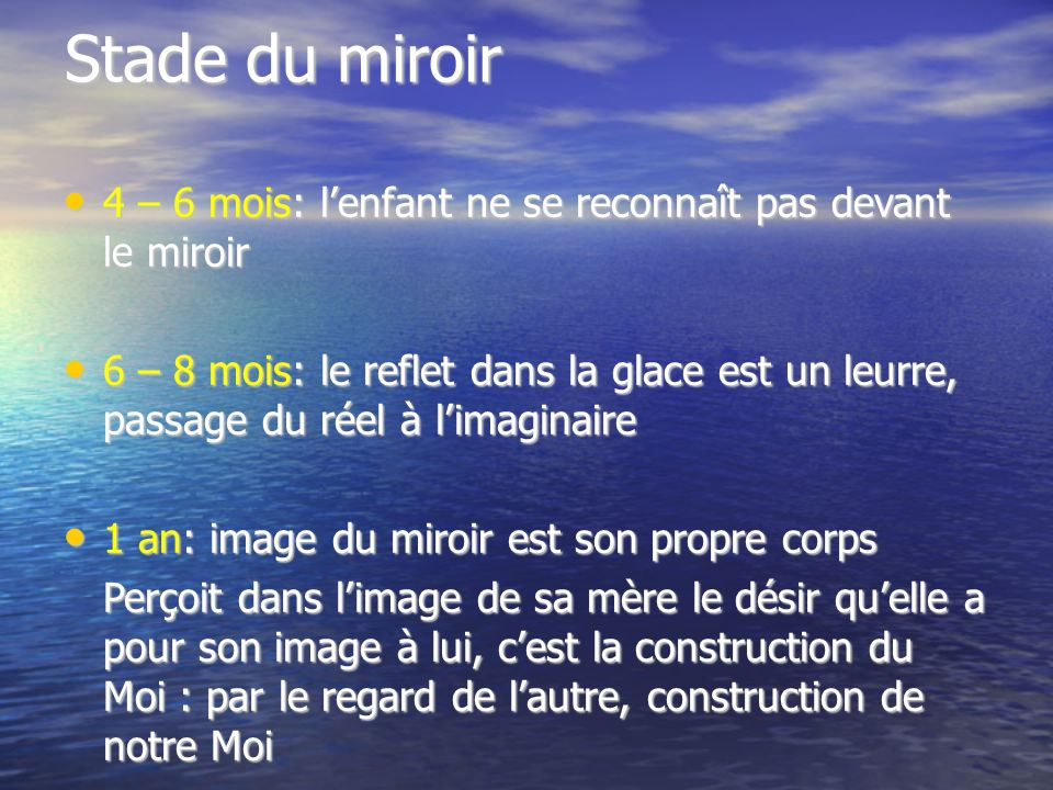 Topiques freudiennes ppt t l charger for Stade du miroir