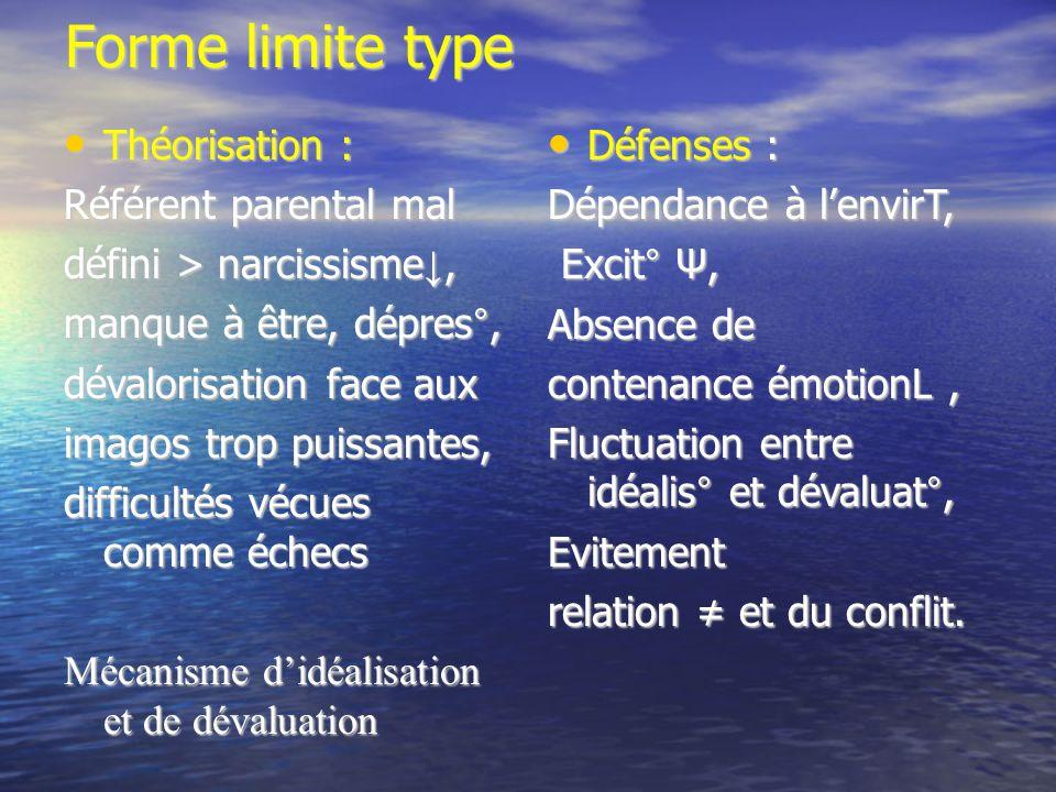 Forme limite type Théorisation : Référent parental mal