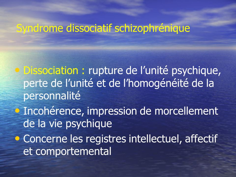 Syndrome dissociatif schizophrénique