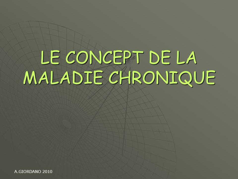 LE CONCEPT DE LA MALADIE CHRONIQUE