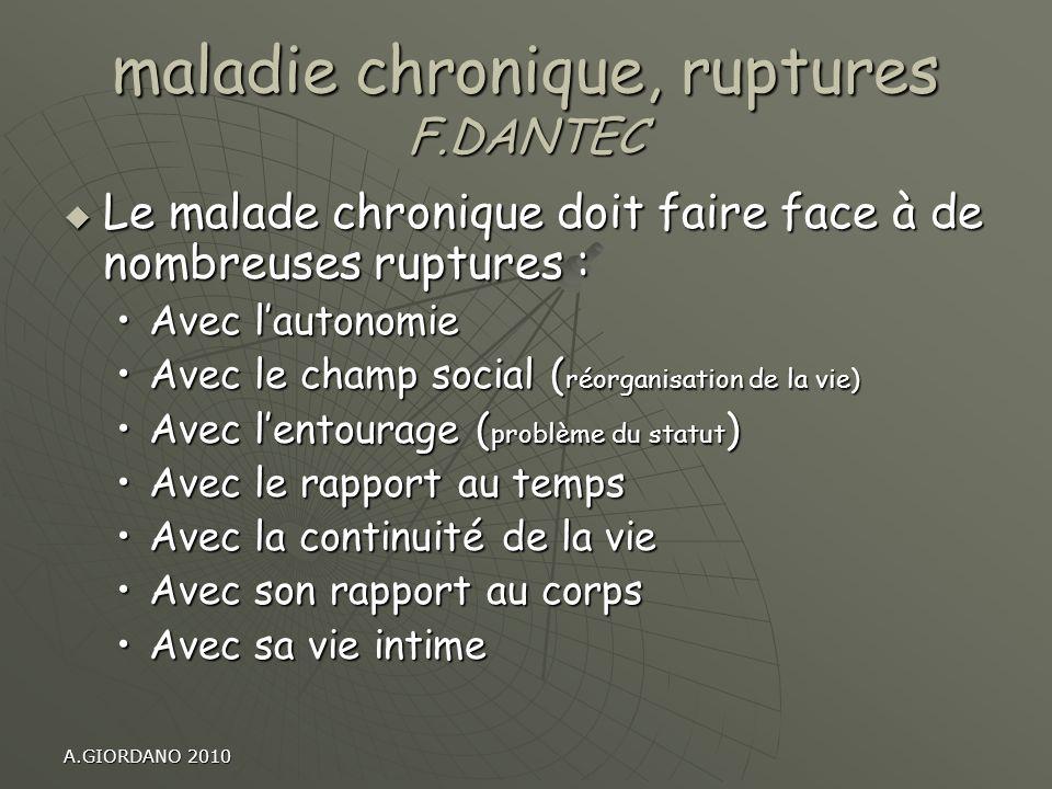 maladie chronique, ruptures F.DANTEC
