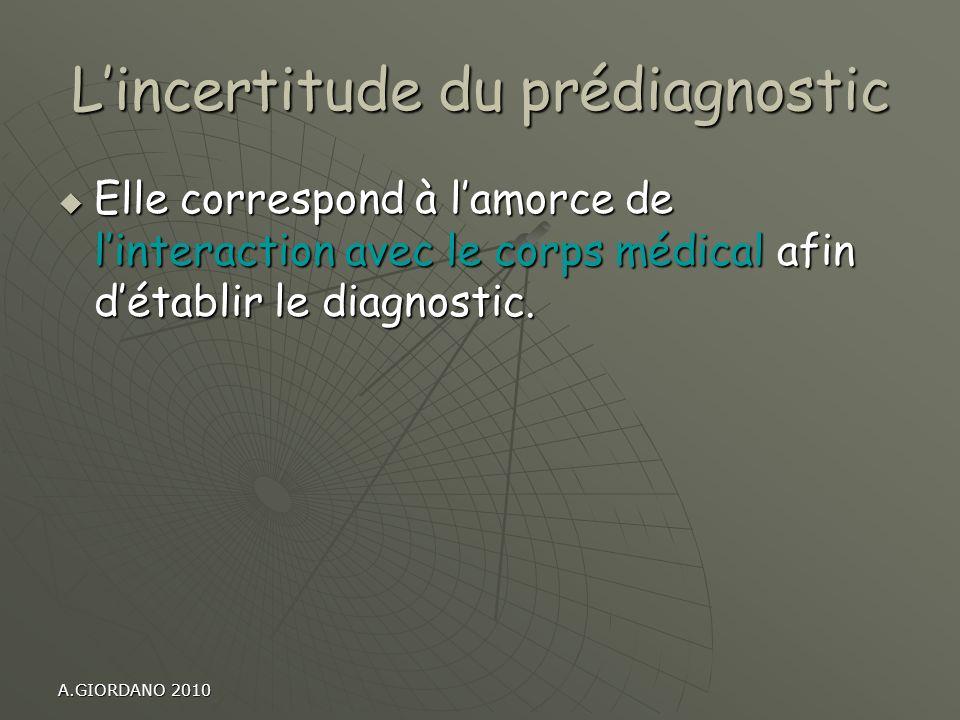 L'incertitude du prédiagnostic