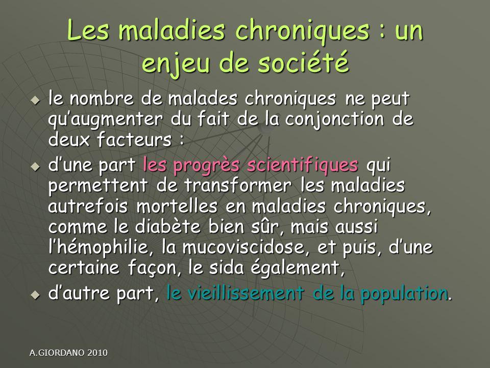 Les maladies chroniques : un enjeu de société