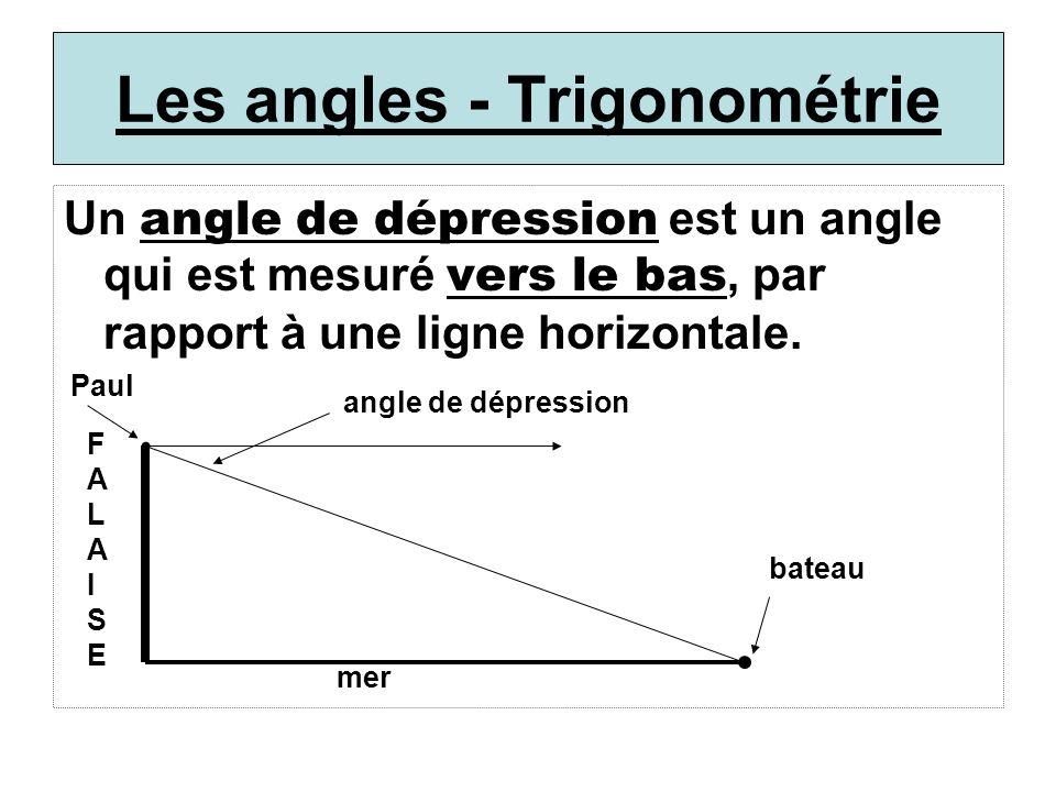 Les angles - Trigonométrie