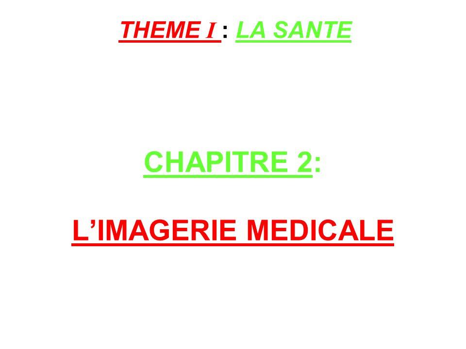 CHAPITRE 2: L'IMAGERIE MEDICALE