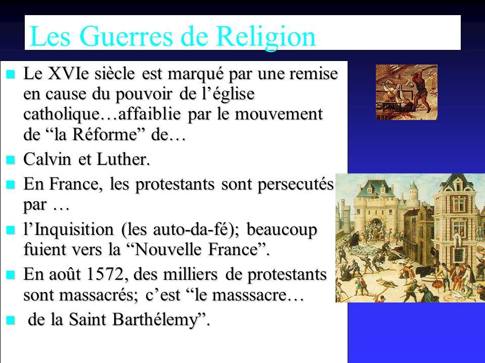 Les Guerres de Religion