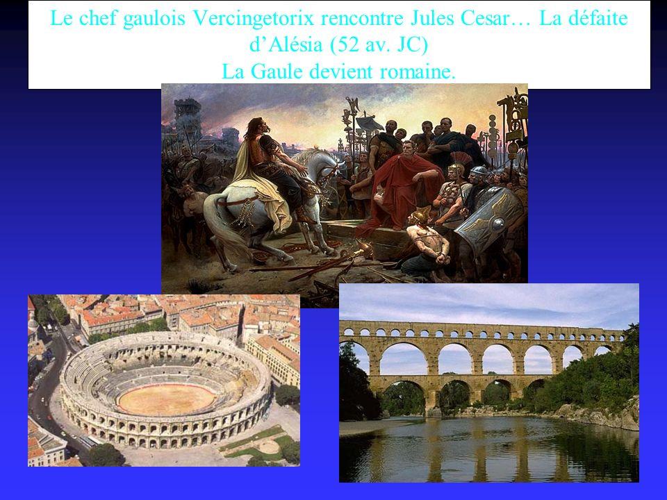 Le chef gaulois Vercingetorix rencontre Jules Cesar… La défaite d'Alésia (52 av.