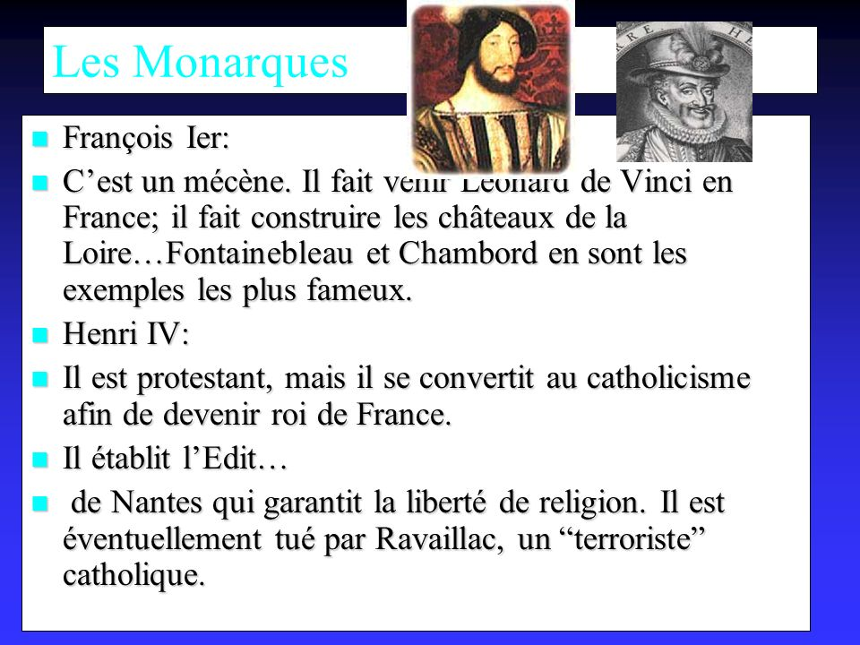Les Monarques François Ier: