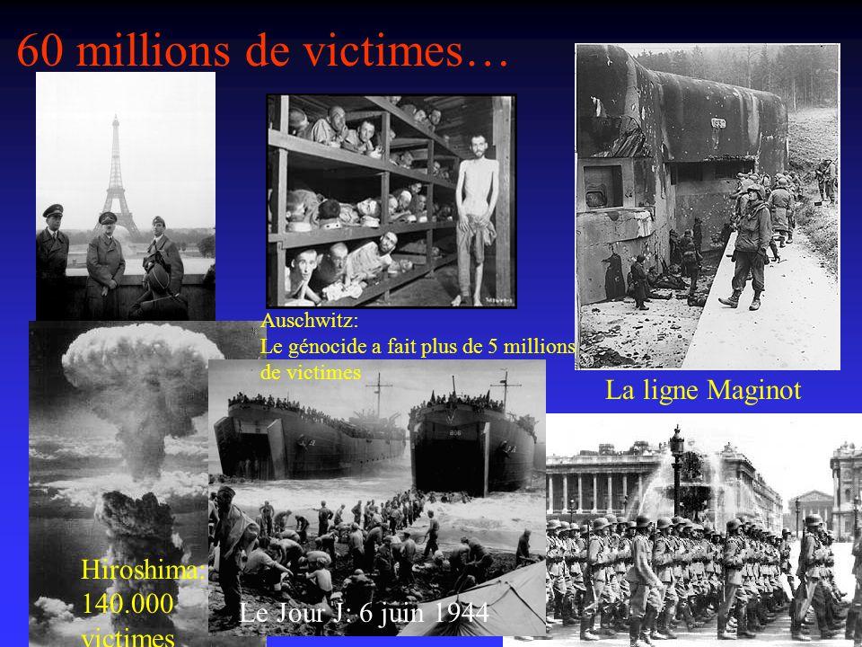 60 millions de victimes… La ligne Maginot Hiroshima: 140.000 victimes