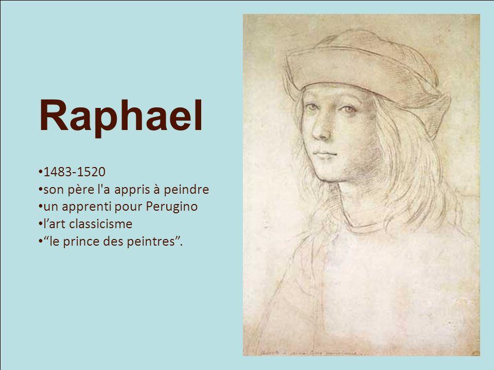 Raphael 1483-1520 son père l a appris à peindre