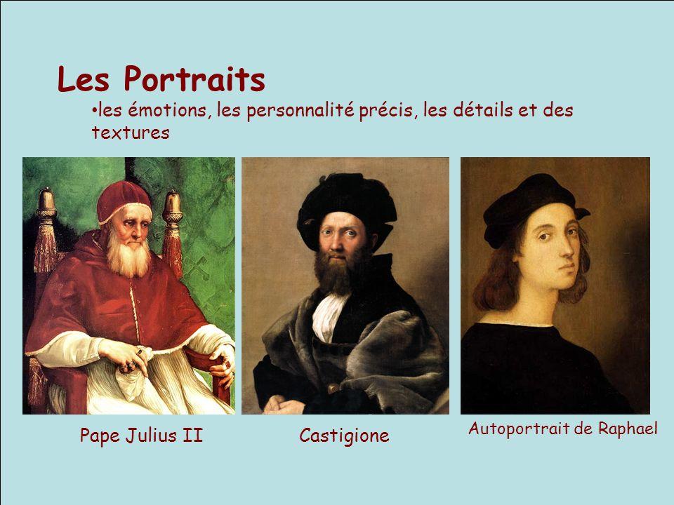 Les Portraits les émotions, les personnalité précis, les détails et des textures. Autoportrait de Raphael.