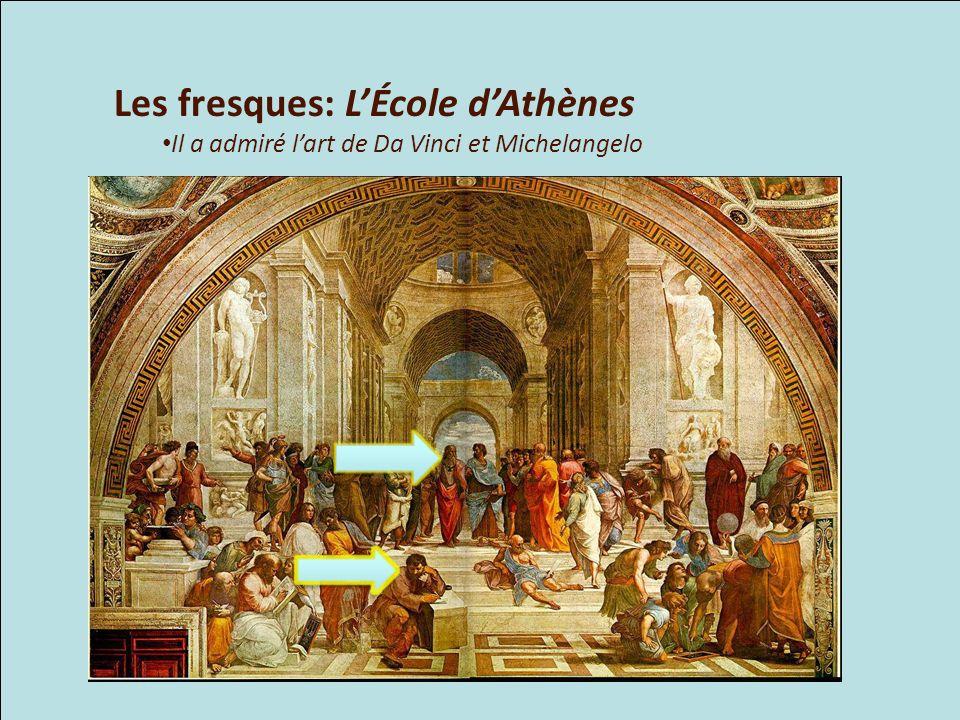 Les fresques: L'École d'Athènes