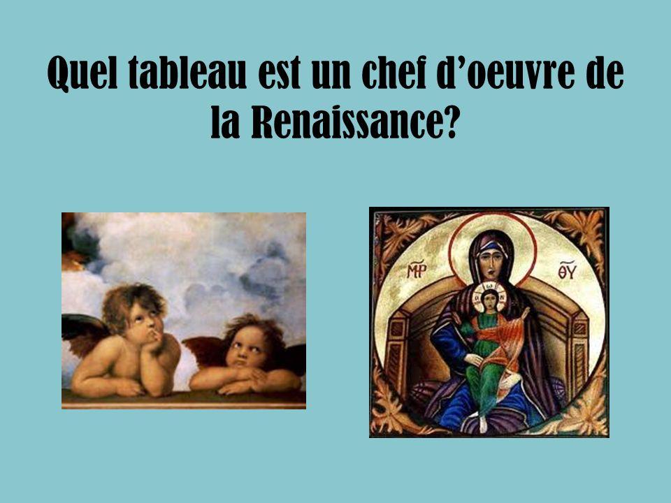 Quel tableau est un chef d'oeuvre de la Renaissance