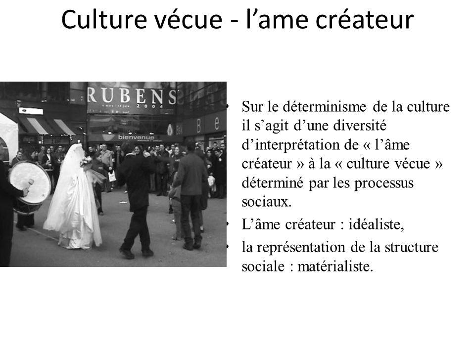 Culture vécue - l'ame créateur