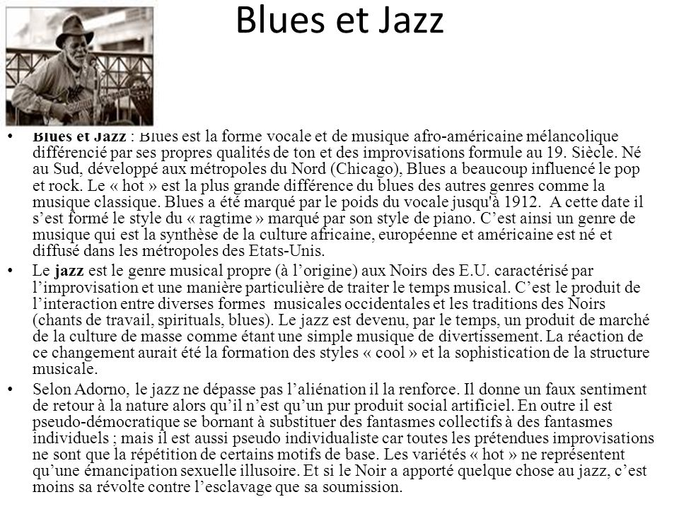 Blues et Jazz