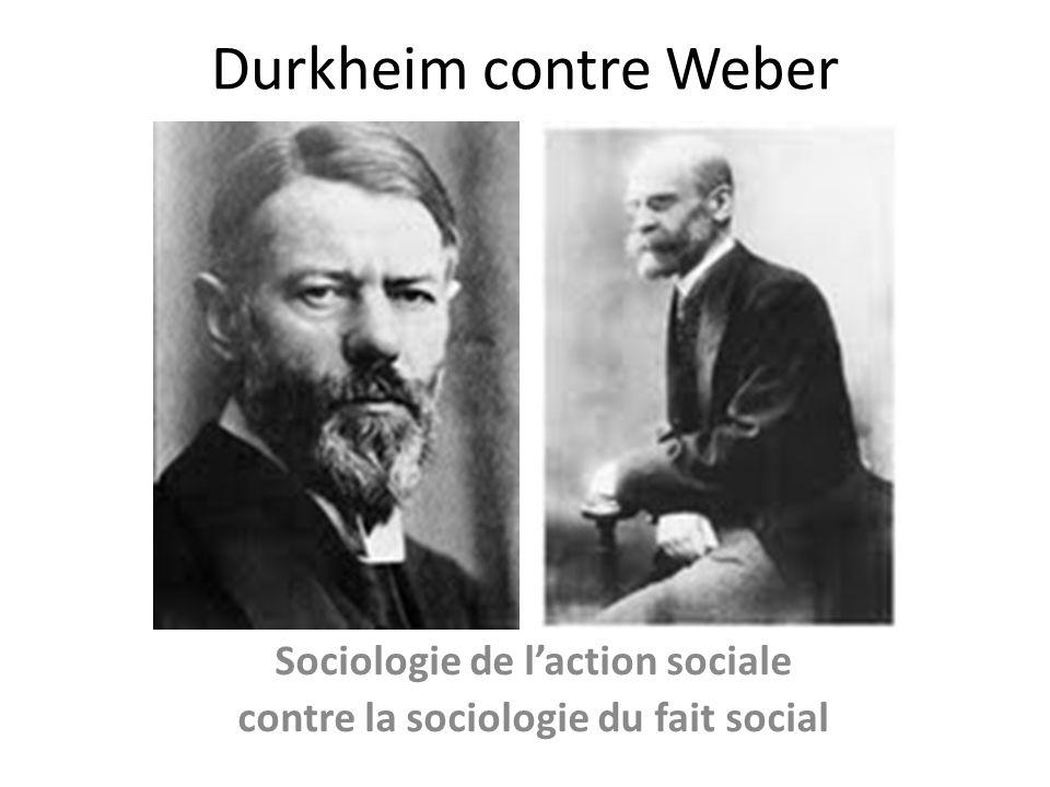 Sociologie de l'action sociale contre la sociologie du fait social