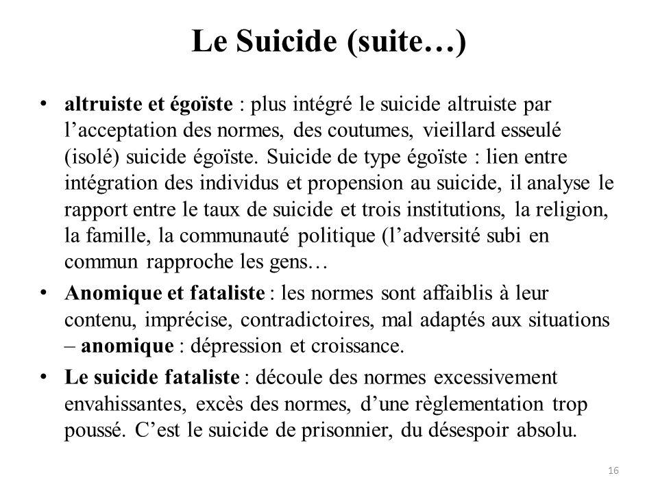 Le Suicide (suite…)