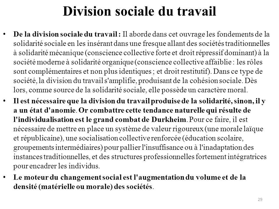 Division sociale du travail