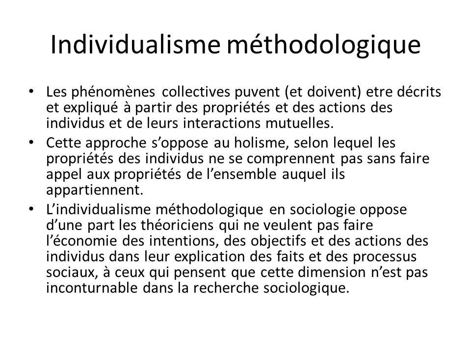 Individualisme méthodologique