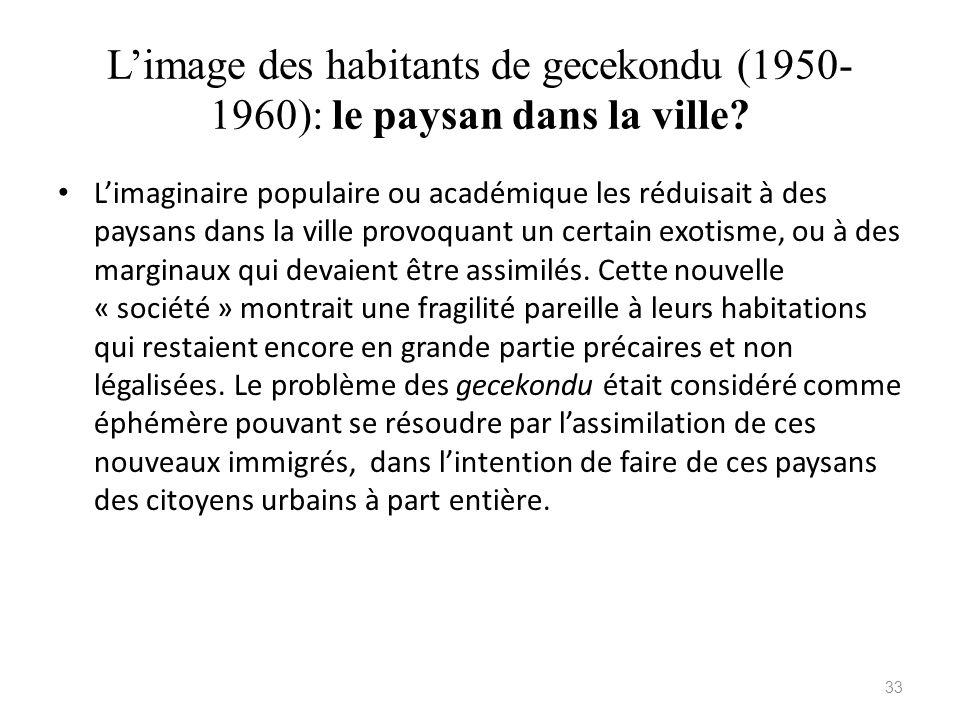 L'image des habitants de gecekondu (1950-1960): le paysan dans la ville