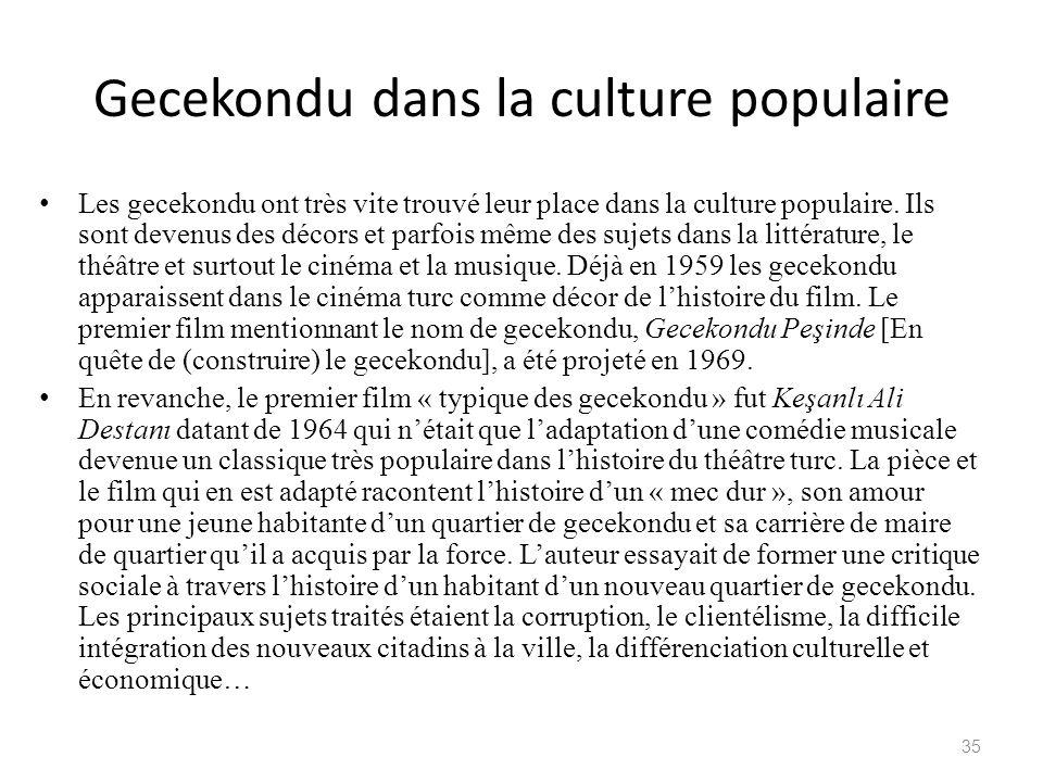 Gecekondu dans la culture populaire