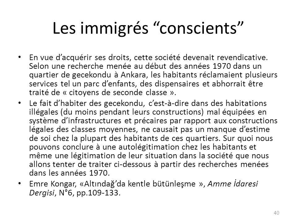 Les immigrés conscients