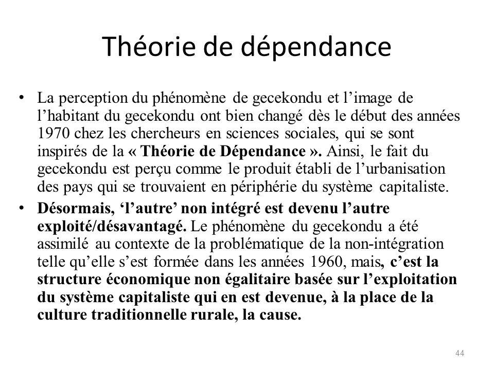Théorie de dépendance
