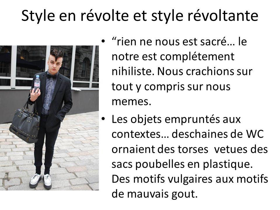 Style en révolte et style révoltante