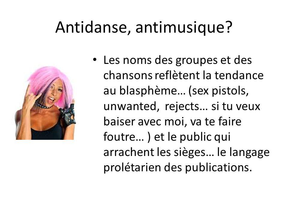 Antidanse, antimusique