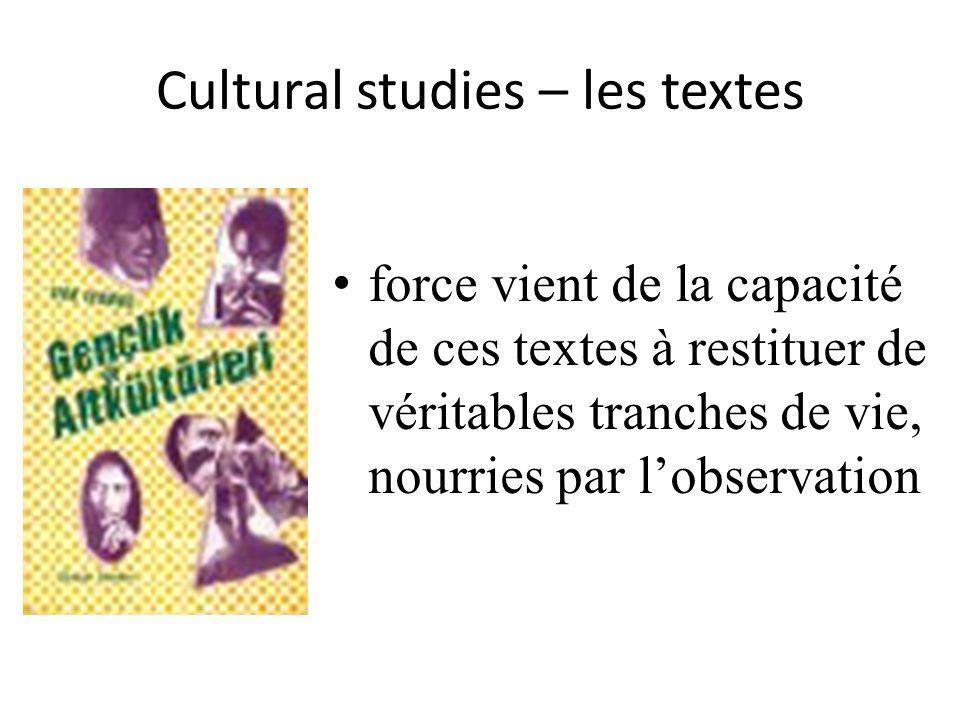 Cultural studies – les textes