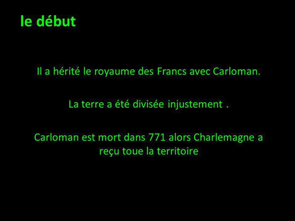 Il a hérité le royaume des Francs avec Carloman.