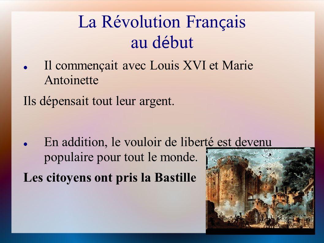 La Révolution Français au début