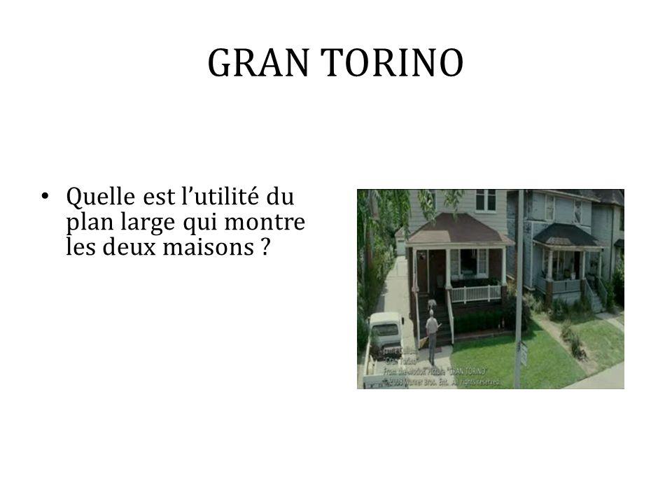 GRAN TORINO Quelle est l'utilité du plan large qui montre les deux maisons