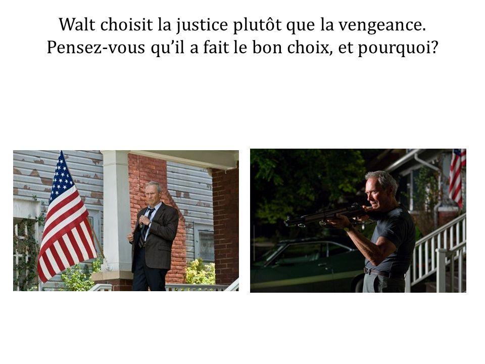 Walt choisit la justice plutôt que la vengeance