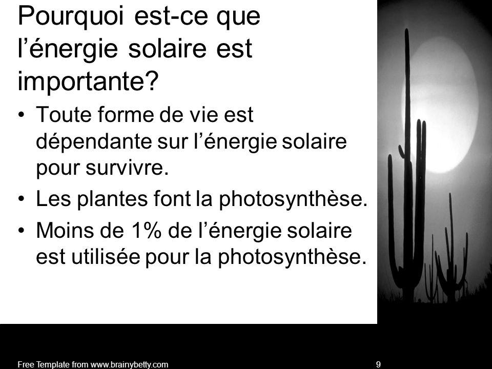 Pourquoi est-ce que l'énergie solaire est importante