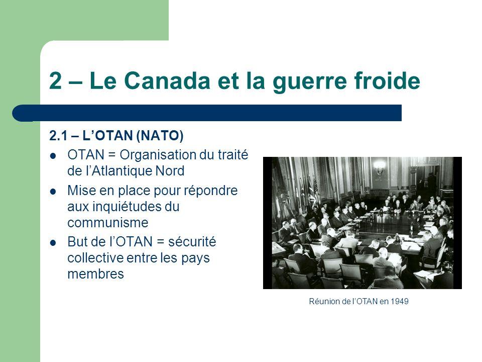 2 – Le Canada et la guerre froide