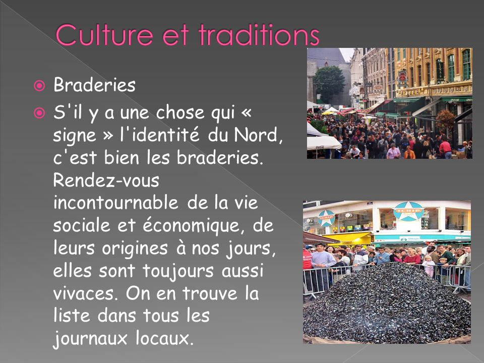 Culture et traditions Braderies