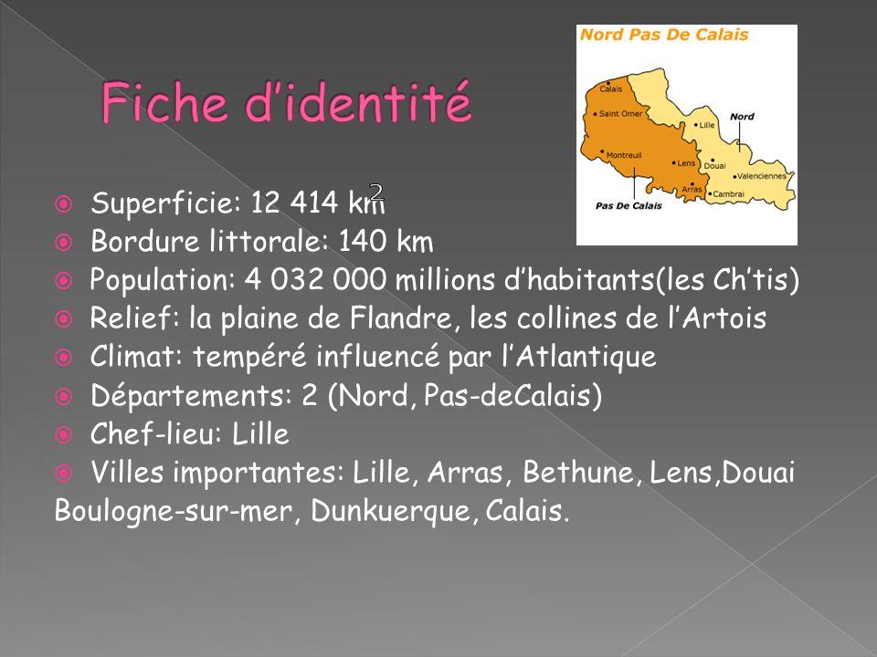Fiche d'identité 2 Superficie: 12 414 km Bordure littorale: 140 km