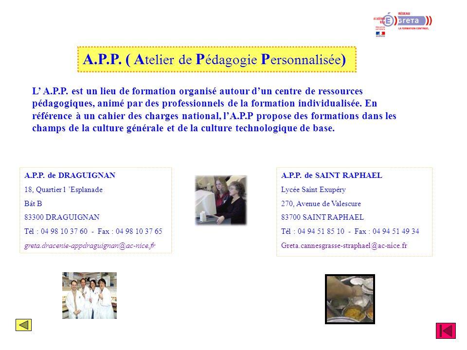 A.P.P. ( Atelier de Pédagogie Personnalisée)