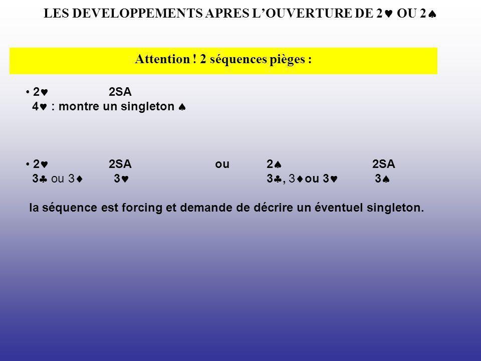 LES DEVELOPPEMENTS APRES L'OUVERTURE DE 2 OU 2