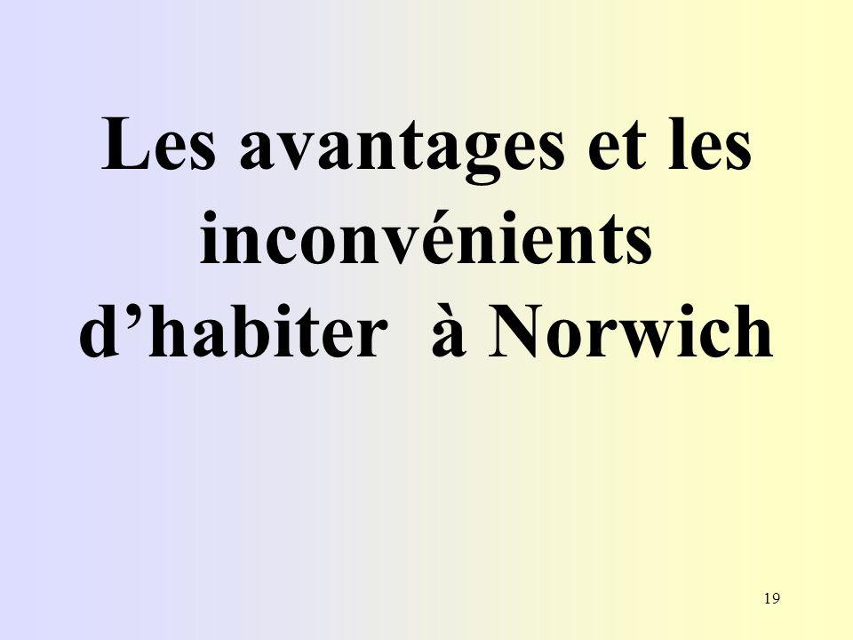Les avantages et les inconvénients d'habiter à Norwich
