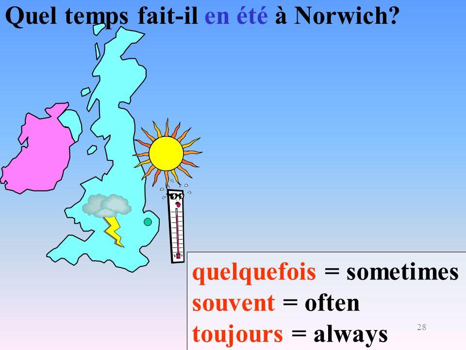 Quel temps fait-il en été à Norwich