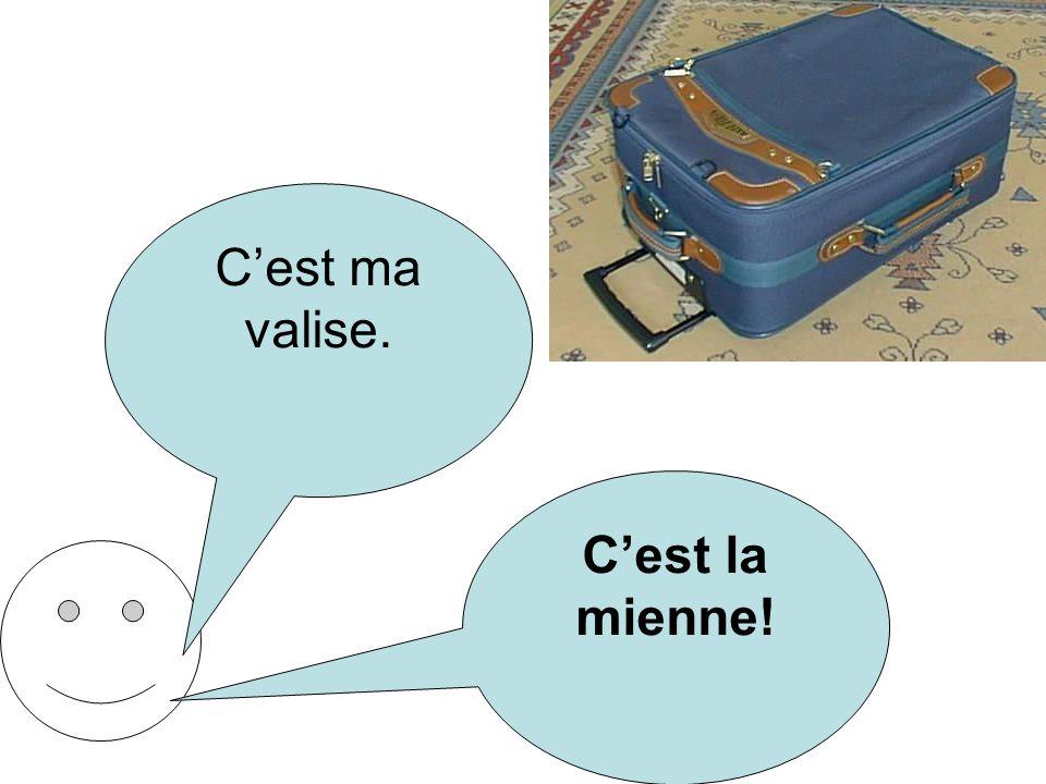 C'est ma valise. C'est la mienne!