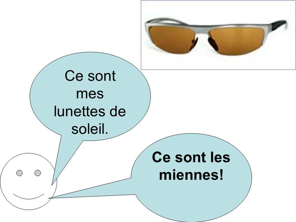 Ce sont mes lunettes de soleil.