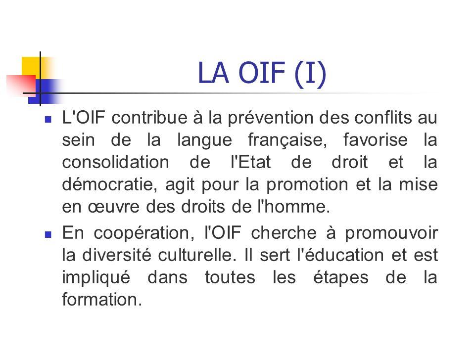 LA OIF (I)