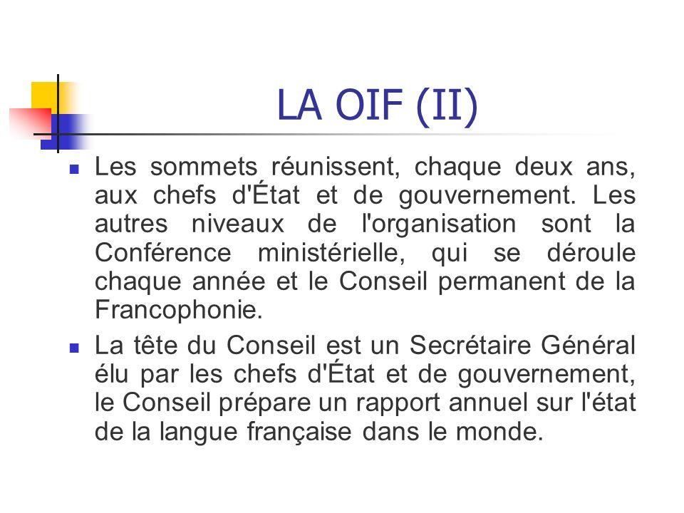 LA OIF (II)