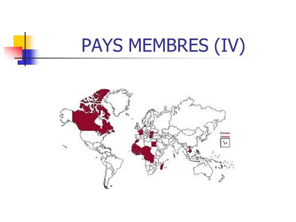 PAYS MEMBRES (IV)