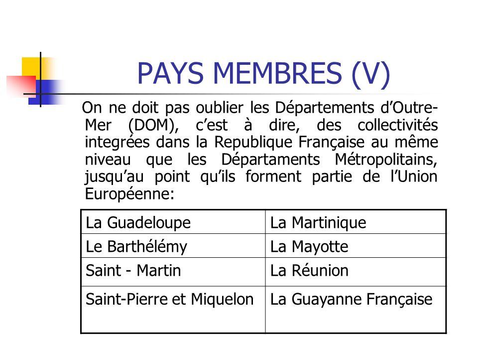 PAYS MEMBRES (V)